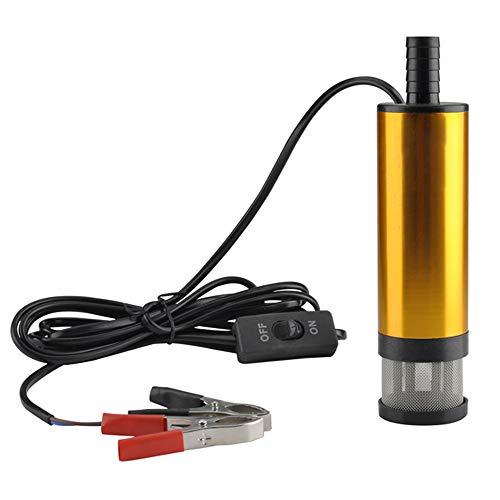 Bomba de transferencia de combustible portátil con carcasa de aleación de aluminio,Mini bomba sumergible eléctrica,bombear agua de aceite D-iesel(24V)