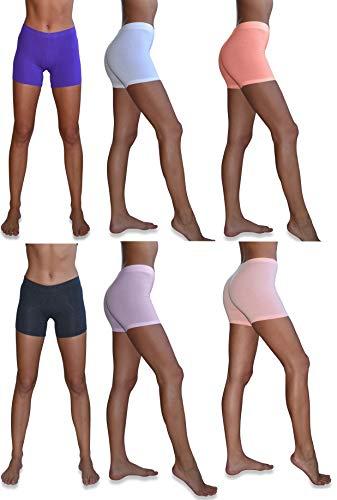 Sexy Basics Women's 6 Pack Cotton S…