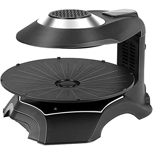 Sunmong Parrilla eléctrica para Interiores, Parrilla eléctrica 3D sin Humo con tecnología infrarroja Parrilla para Interiores, Parrilla para Barbacoa Antiadherente con LCD Inteligente, Control de