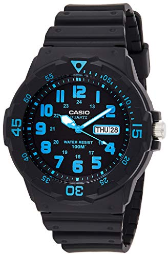 Casio Collection Herren-Armbanduhr MRW 200H 2BVEF, schwarz/Blau