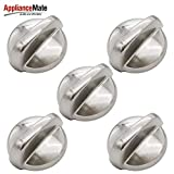 Appliancemate WB03T10325 Metal Range Burner Control Knob 5PACK For GE Cooktop&Stove&Oven Knobs