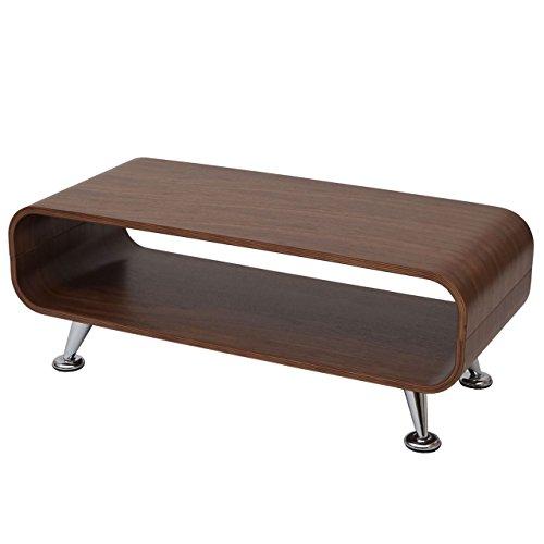 Mendler Couchtisch HWC-B97, Loungetisch Club Tisch, 34x90x39cm ~ Walnuss Natur