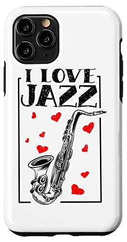 iPhone 11 Pro I Love Jazz Music | Cute Soprano Saxophonists Fan Funny Gift Case