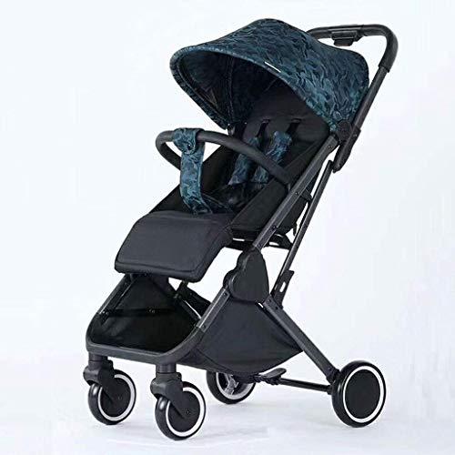 MNBV Kinderwagenwagen, Deluxe Puppenwagen  Kinderwagen Puppe mit Kutschentasche, Komfort Kinderwagen (Farbe: Grün)