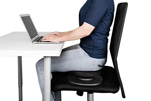 SWEDISH POSTURE® BALANCE CORE TRAINER für aktives Sitzen | Sitzauflage für Bürostuhl | Beckenbodentraining | Balance Training | Instabilität | orthopädisch und ergonomisch | Inkl. Anleitung
