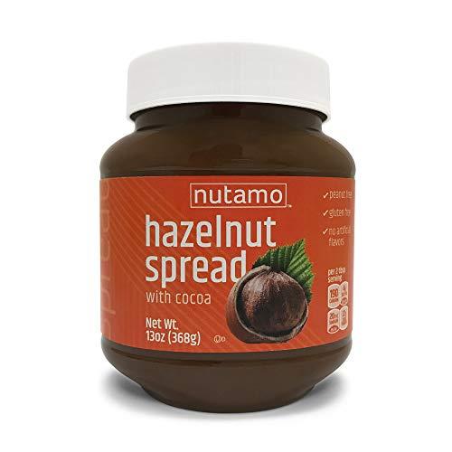 Nutamo Hazelnut Spread with Cocoa, All Natural Non-GMO No Peanut Gluten Free Topping, 13 Oz