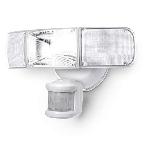 Home Zone Security Motion Sensor Light - Ultra Bright 3 Head Outdoor Weatherproof LED Flood Light