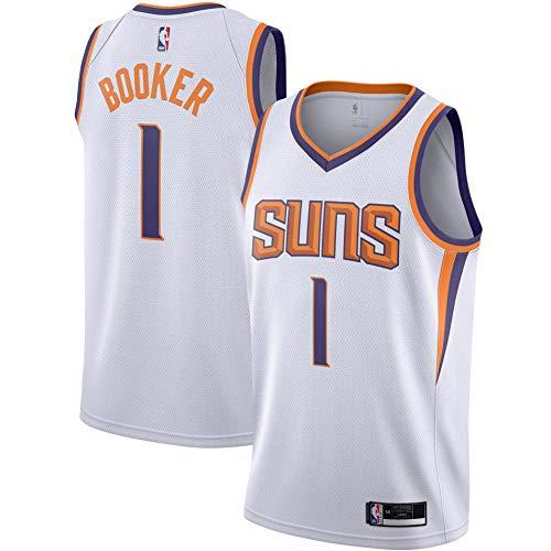 Devin Booker Phoenix Suns #1 White Youth 8-20 Association Edition Swingman Jersey (18-20)