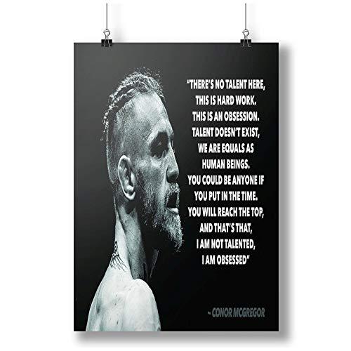 Conor Mcgregor UFC Quote A0 A1 A2 A3 A4 Satin Foto Plakat p10062h