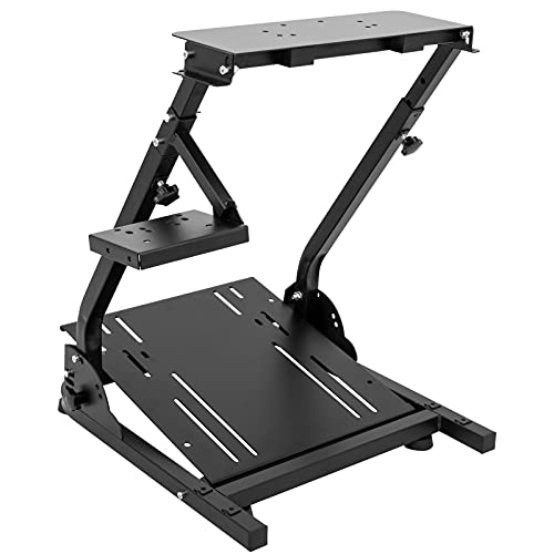 CXRCY Racing Wheel Stand Compatible with Logitech G920 G29 G27 G25 Gaming Cockpit Height Adjustable Foldable Gaming Racing Simulator Steering Wheel Stand ,Wheel and Pedals Not Included