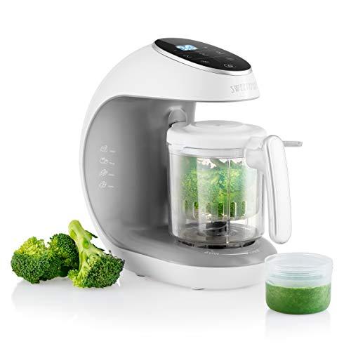 Robot de cocina Multifuncion - Babycook Multifunción 7 en 1 para Bebés - Al vapor, Procesador de Alimentos, Limpieza Automática, Esterilizador de Biberones, Recalentar, Descongela - Robot cocina bebe