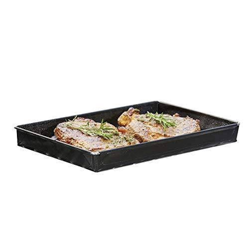 Grillschale 18x28x3cm | Wiederverwendbare Grill Schale für Gasgrill, Lotusgrill & Holzkohlegrills mit Antihaftbeschichtung | MUST HAVE Grillzubehör