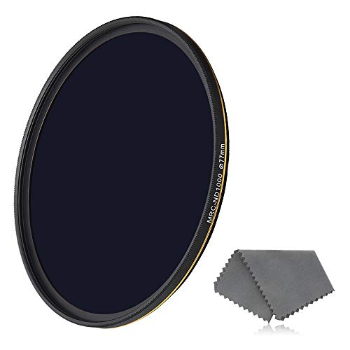 LENSKINS 77mm ND 1000 Filter, 10 Stop Neutral Density Filter for Camera Lenses,...