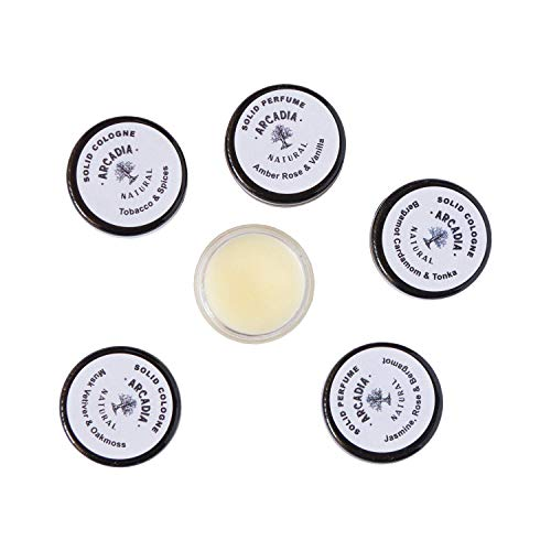 8 Solid perfume samples (FEMININE SCENTS - Florals, Exotic florals, Sweet scents, and Fruity)