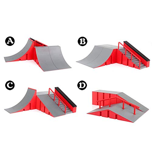 Cokeymove Griffbrett Skate Park Kit, Rampenteile Mini Finger Skateboard Ultimative Parks Mit 1 Finger Skateboard Für Finger Skateboard Training Requisiten 4 Auswahlmöglichkeiten