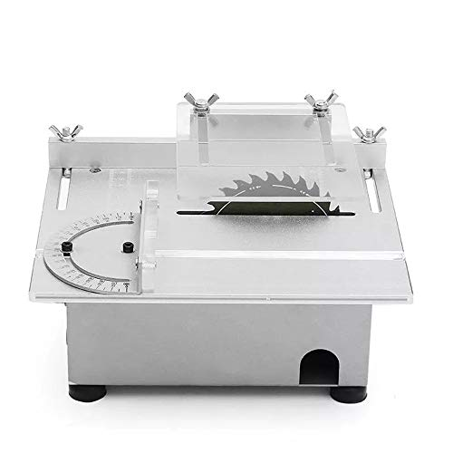 Mini Table Saw, High Precision Woodworking Lathe Polisher Drilling Machine with Adjustable Speed, for DIY Hobby Handmade Wooden Model Crafts Making