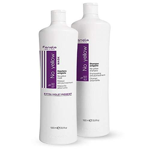 Fanola Official No Yellow Shampoo & Mask Set 1000ml