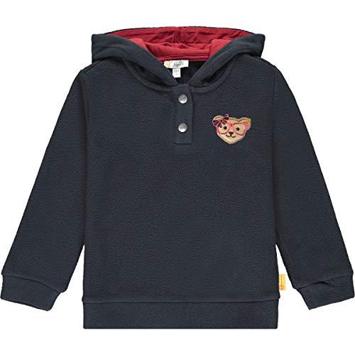 Steiff Mädchen mit süßer Teddybärapplikation Sweatshirt, Navy, 122