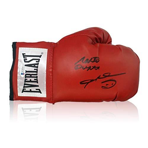 exclusivememorabilia.com Guante de Boxeo Firmado por Sugar Ray Leonard y Roberto Duran