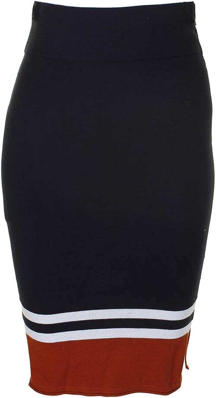 Bar III Womens Striped KneeLength Pencil Skirt