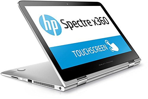 HP Spectre x360 (13-4105ng) 33,8 cm (13,3 Zoll) Convertible Ultrabook (Intel Core i7-6500U, 2,5 GHz, Intel HD-Grafikkarte 520, 8 GB RAM, 256 GB SSD, FHD-IPS-Touchscreen, Windows 10) Silber