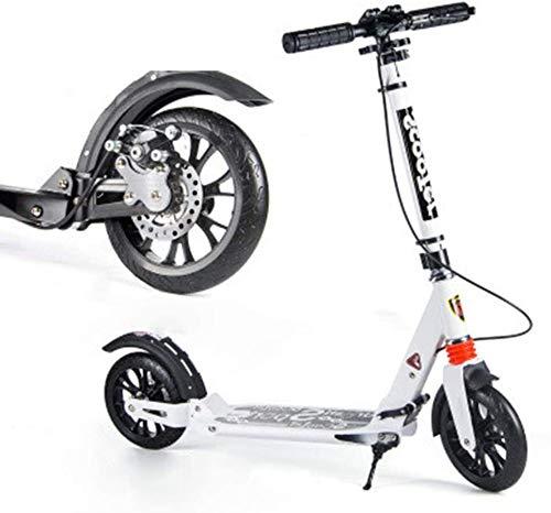 Scooter Patinetes clásicos Scooters plegables para adultos con frenos de disco, scooters de cercanías con ruedas grandes, regalos de cumpleaños para adultos / adolescentes / niños, hasta 150kg, no elé