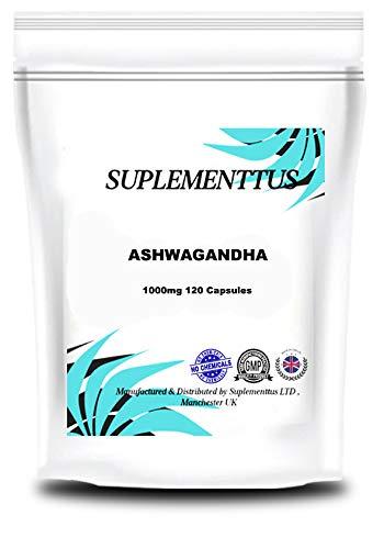 Ashwagandha Root 1000mg Capsules Natural Supplement - Suplementtus UK (120)