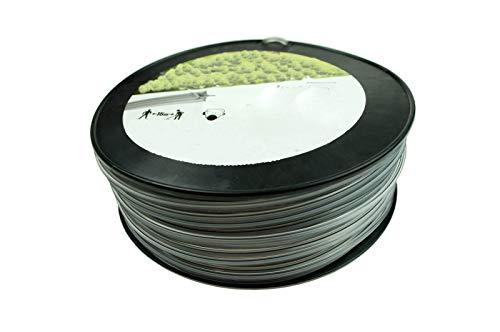 Fil de coupe professionnel renforcé pour débroussailleuse - 100 m - 5 pans - 3 mm - Fil de rechange pour tête de fil ZRG