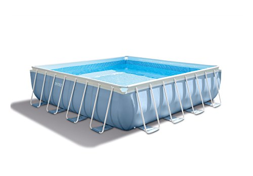 Intex Square Frame Prism Pool Set w/Filter Pump – 14 ft. x 42 in.
