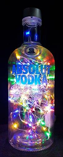 Absolut Vodka – Linterna de botella con 80 ledes multicolor, idea de regalo