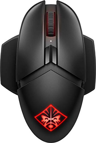Omen by HP Photon Wireless Gaming Mouse with Qi Wireless Charging, Programmable Buttons, E-Sport DPI, and Custom RGB Lighting (Black) (Renewed)