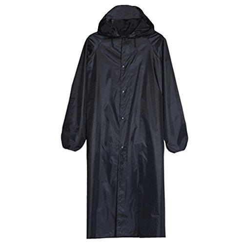 BOZEVON Herren Mode Regenmantel Long Jacket Regenjacken Freizeit Regen Poncho mit Kapuze, Armee Grün, Eine Größe