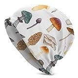 Lsjuee Gorro de esquí de punto con forma de hongo con calavera para hombre y mujer