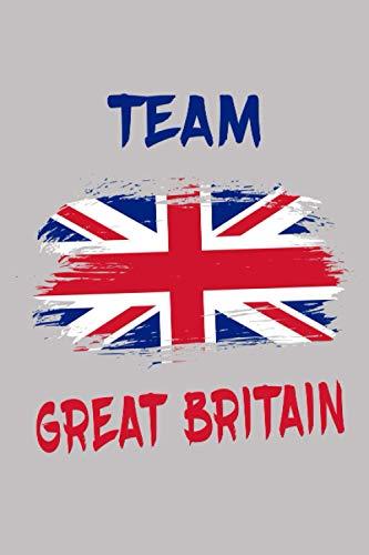Team Großbritannien Flaggen Notizbuch: Schönes Team Großbritannien Flaggen Notizbuch mit 120 karierten Seiten im A5 Format