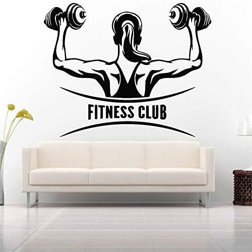 yaonuli Vinyl Aufkleber Gym Fitness Club Wandbild Abnehmbarer Vinyl Aufkleber 30X56cm