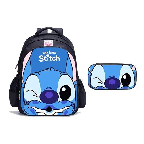 Stitch Bags Lilo & Stitch Mochilas unisex bolsa de lonchera para estudiantes, 40, L,