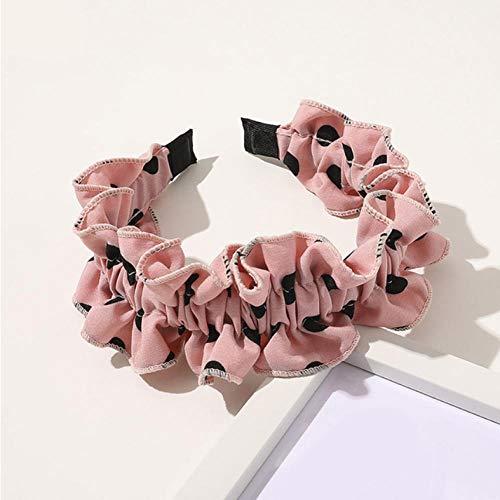 Empty Mode Cheveux Cerceau Tête Porter Cerceau Dot Floral Imprimer Bandeau Élastique Bande De Cheveux Cheveux Accessoires Filles Femmes-Rose