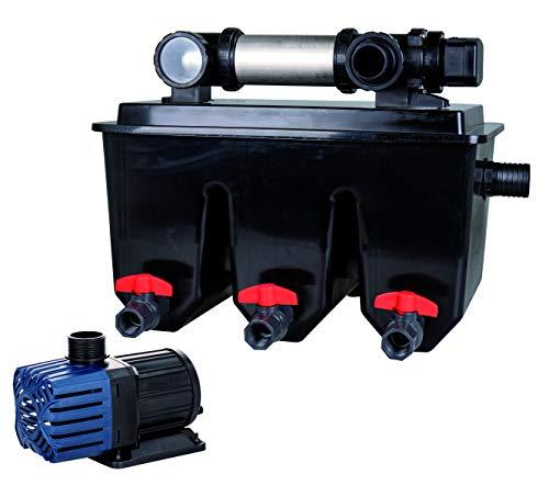 T.I.P. Mehrkammer-Teichaußenfilter MTS 30000, UV-C 25 Watt, für Teiche bis zu 30.000 Liter