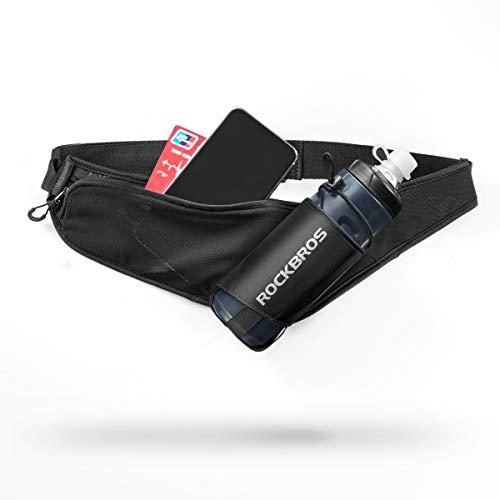 ROCKBROS Running Belt Fanny Pack with Water Bottle Holder Waist Pack Bag Belt for Women Men for Hiking Traveling Camping Fit Phones 6.5 inches