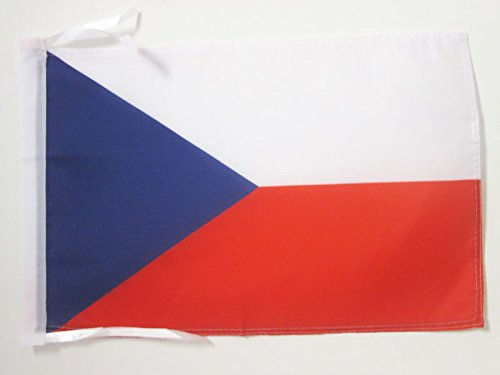 AZ FLAG Flagge Tschechien 45x30cm mit Kordel - TSCHECHISCHE Fahne 30 x 45 cm - flaggen Top Qualität