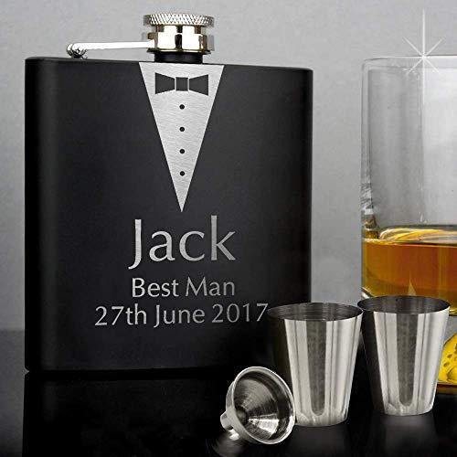 TOPCOMWW gepersonaliseerde gepersonaliseerde whiskyfles whisky groomsmen geschenk 6 oz vaderdag verjaardagscadeau hand