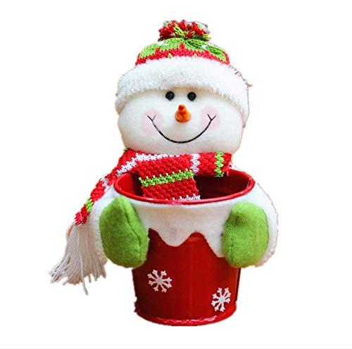 Canasta de Almacenamiento Dulces navideños Decoración Papá Noel Regalo Decoraciones navideñas Telas Punto Canastas Frutas, Navidad Escritorio para el hogar niños Bolsas Manzana