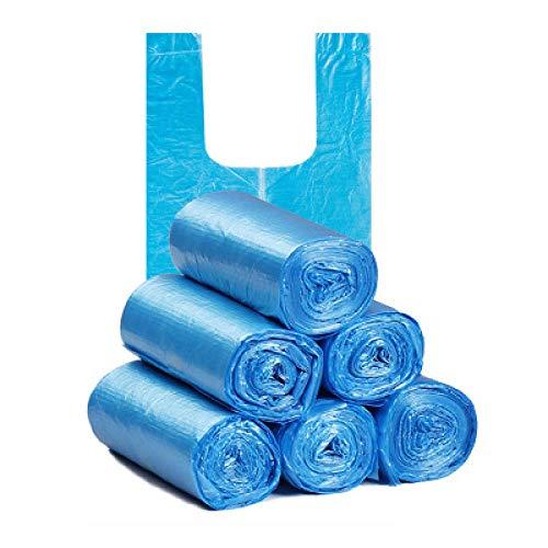 5 Rollen 10L Müll Mülltonne Liner Küche Toilette Müll Müllsäcke Umweltfreundliche Weste Müllsäcke 100 Säcke Blau