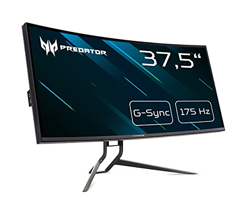 Predator X38P Gaming Monitor 37,5 Zoll (95 cm Bildschirm) 144Hz (175Hz OC), 1ms (G2G), HDMI 2.0, DP 1.4, höhenverstellbar, GSync