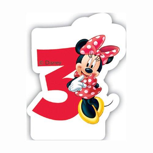 Disney Geburtstagskerze Minnie Maus-Zahl 3