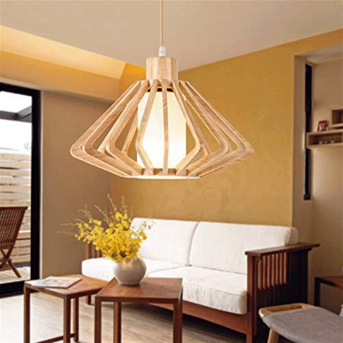 Chandelier de estilo japonés Luz de madera Sólido Luz de Luz Creatividad Entrada de Personalidad Restaurante Colgante Luces Corredor Norte Europa Hilo Hilo LED de madera Lámpara de techo Luces colgant