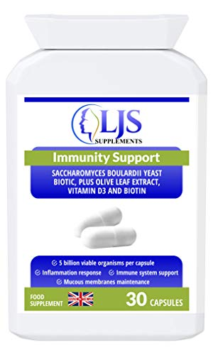 Immunity Support - Contains Vitamin D3 - for Digestive Health - Improved Immune Function - Fights Against Dysentery and Bacterial Diarrhoea - Protects from Infections & Yeast Overgrowth - Made in UK.