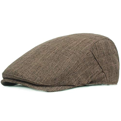KeepSa Gorras planas de cáñamo puro para hombre Gatsby Ivy Irish Hat Newsboy Boina Gorras