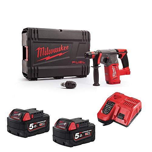 Milwaukee M18CHX-0 M18 Fuel SDS+ Hammer Drill 2 x 5Ah Batteries, Charger Case