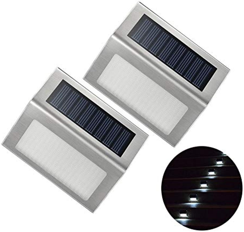 XINGLIN Solar Für Garten 2Pcs Imprgniern3 Led-Solarlicht-Edelstahl-ImFreiengarten-Wand-Lampe Beleuchtet Patio-Weg-Treppen Led-Beleuchtung